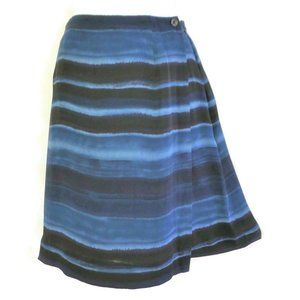 Vintage Silk Skirt Jones New York Wrap Blue Office
